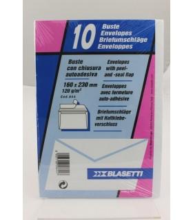 Buste lettera Blasetti  mis. 18x23 Autoadesive   Blister da 10 pz.