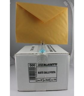 Buste lettera Blasetti  mis. 18x24 Gialle    Scatola da 500 pz.