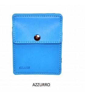 Portafoglio + P/Monete e 3 P/Card Migio in Similpelle colore Azzurro