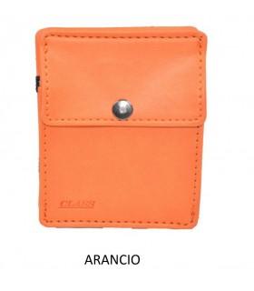 Portafoglio + P/Monete e 3 P/Card Migio in Similpelle colore Arancio