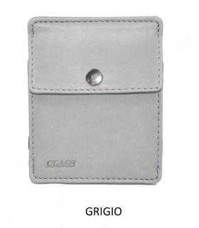 Portafoglio + P/Monete e 3 P/Card Migio in Similpelle Colore Grigio