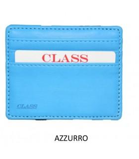 Portafoglio e P/Card Migio in Similpelle Colore Azzurro