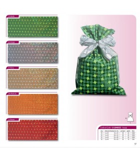 "Buste Ragalo Oleografate ""Cube"" in PPL Mis. 25x40 cm conf. da 100 pz. assortite in 5 Colori"