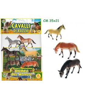 """Busta animali """"Cavalli"""" 6 pezzi"""