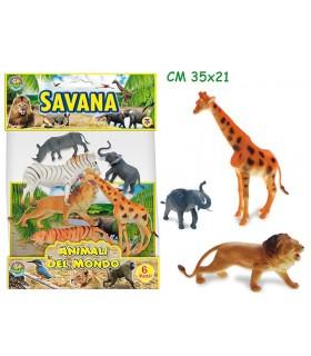 Busta Animali della Savana 6 pz.