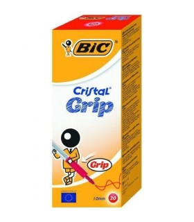 Penna Bic Cristal Grip colore rosso