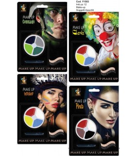 Blister Make Up Disponibile in 4 modelli Militare/indiano/Pirata/Clown