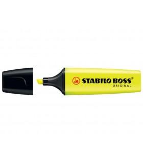 Evidenziatore Stabilo Boss  colore giallo conf. da 10 pz.