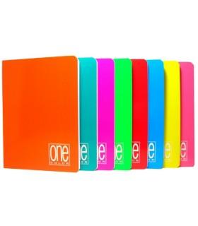 Maxi Quaderno One Color rig. A  80 pagine  conf. 10 pz.colori assortiti