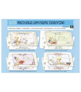 Biglietto Cromo Cumunione Portasoldi conf. da 12 pz. assortiti
