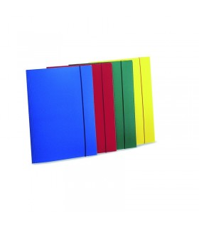 Cartelline a 3 lembi con elastico a5 conf. 10 pz. colori assortiti