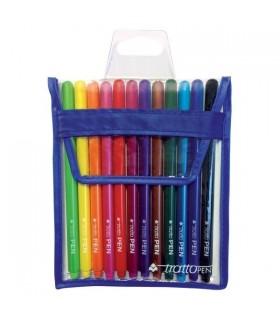 Tratto Pen Metal in Busta da 12 pz. colori  assortiti
