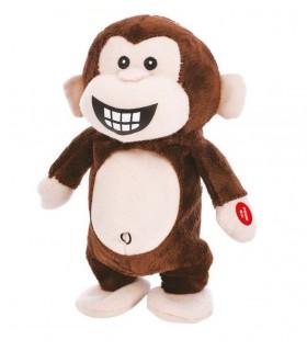 Scimmia Peluche Ripetix Ripete tutto ciò che dici H.20 cm