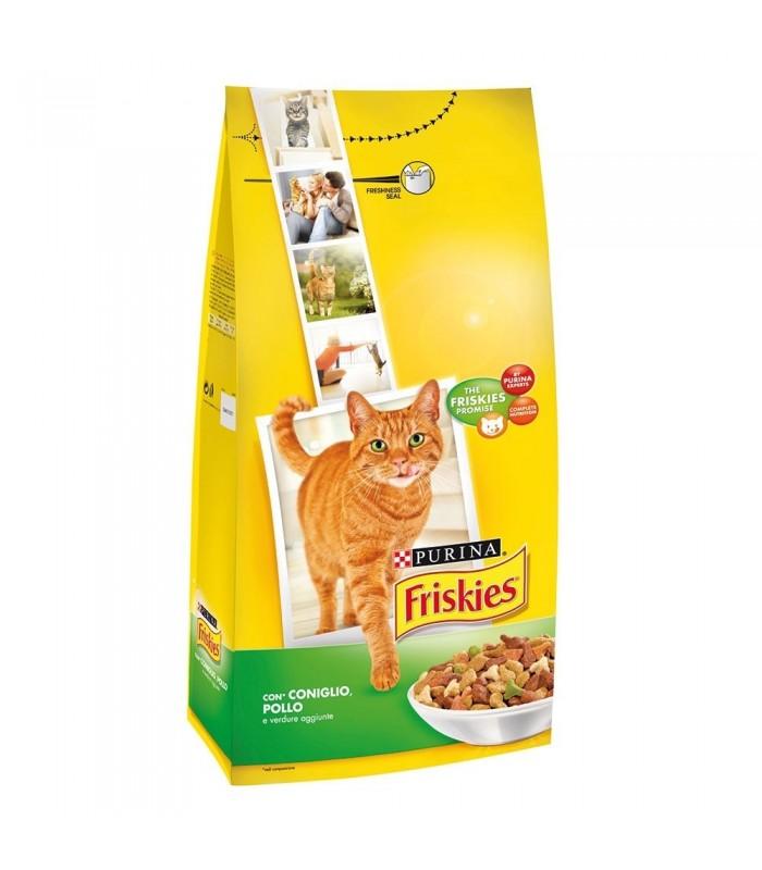 Crocchette Purina Friskies Per Gatto Con Coniglio Pollo E Verdure