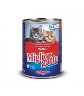 Bocconcini Miglior Gatto con Manzo Lattina 405 gr