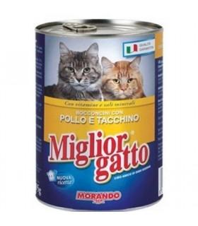 Bocconcini Miglior Gatto con Pollo e Tacchino Lattina 405 gr