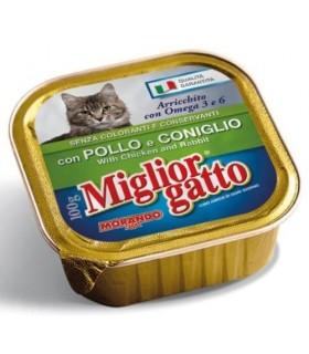 Miglior Gatto Patè con Pollo e Coniglio Vaschetta 100 gr