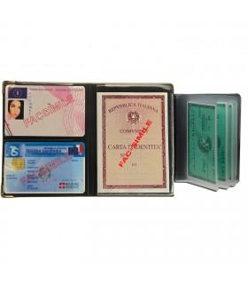 Portadocumenti Multiplo Carta D'identità Patente e Tessera sanitaria Expo da 24 pz.