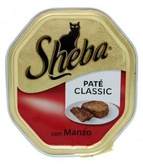 Sheba Pate' Manzo per gatti Vaschetta 85 gr