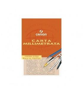 Blocco millimetrato A4 Canson  da 10 fogli conf. 25 pz.