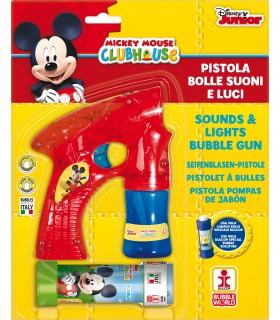 Pistola Mickey Mouse Spara Bolle di Sapone con Luci e Suoni