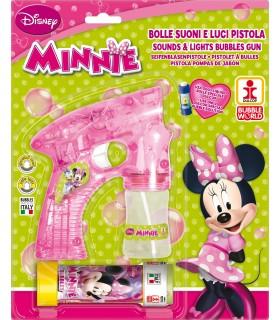 Pistola Minnie Spara Bolle di Sapone con Luci e Suoni