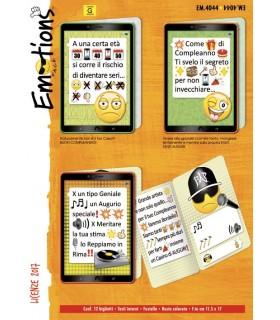 Biglietto Cromo Compleanno Emtions conf. da 12 pz. assortiti