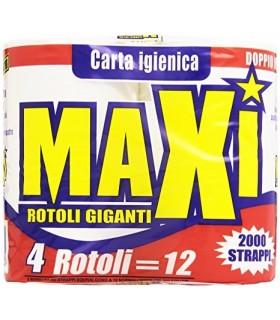 CARTA IGIENICA MAXI ROTOLI 2000 STRAPPI  CONF. DA 4 ROTOLI