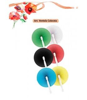 Ventola Colorata in Carta e Plastica conf. da 12 pz.