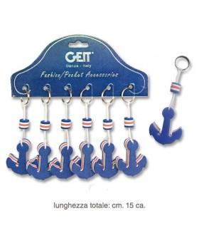 P/chiavi Galleggiante a Forma di Ancora in Cartella da 6 pz.
