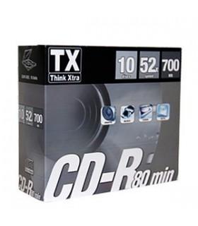 CD-R  Slim 80 Min TX conf. da 10 pz.