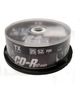 CD-R 80 min TX Campana da 25 pz.