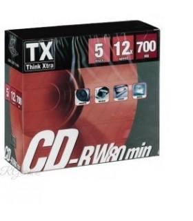 CD-RW Riscrivibili Slim 80 min conf. da 5 pz.