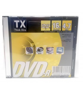 DVD-R Slim 4.7 GB conf. da 5 pz.