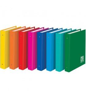 Raccoglitore Blasetti One Color  4 anelli   conf. da 6 pz. in colori assortiti