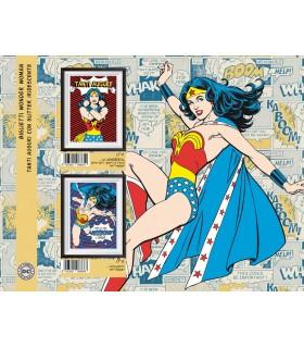 Biglietto Marpimar Compleanno Wonder Woman con Glitter conf. 12 pz. assortiti