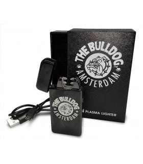Accendino Elettronico  THE BULLDOG Plasma Nero Opaco