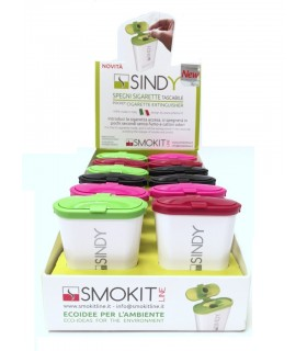 Spegni Sigarette Tascabile Sindy conf. 12 pz. colori assortiti