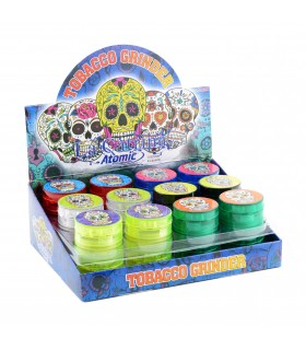 "Grinder Atomic in Plastica ""La Cartina"" 4 Parti Expo 24 pz. assortiti"