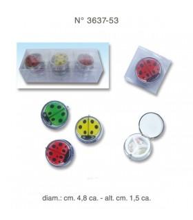 Portapillole Ladybug 3 scomparti  in metallo Disponibile in 3 colori