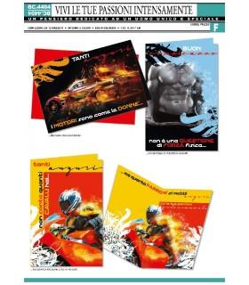 Biglietto Cromo Compleanno Uomo conf. 12 pz. assortiti