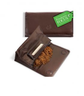 Busta Porta tabacco Similpelle Egoiste a secchiello Medium colore marrone