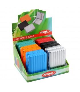 Portasigarette in Metallo Atomic conf. da 12 pz. colori assortiti