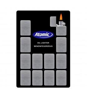 Accendino a Benzina Atomic in Acciaio Display da 12 pz. assortiti
