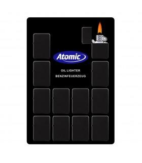 Accendino a Benzina Antivento Black Matte Atomic in Acciaio Display da 12 pz.