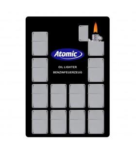 Accendino a Benzina Atomic in Acciaio Display da 12 pz.