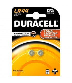 Pila Duracell a bottone  LR44  conf. 10 blister da 2 pz.