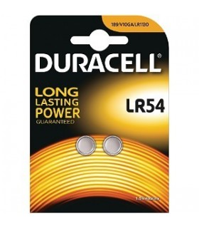 Pila Duracell a Bottone LR54 conf. da 10 Blister da 2 pz.