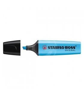 Evidenziatore Stabilo Boss colore celeste conf. da 10 pz.