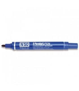 Marcatore Pentel N 50 punta tonda conf. da 12 pz. colore blu